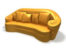 Free Isolated Couch With Pillows Stock Images - 9255844