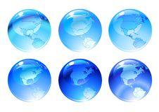 Globe Icons Stock Photos