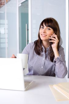 Free Business Woman On A Cell Phone Royalty Free Stock Photo - 9256205