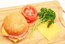 Free Sandwich And Ingredients. Royalty Free Stock Photos - 9256208