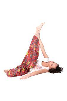 Free Yoga Girl Royalty Free Stock Image - 9256356