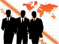 Free Business People And Map Stock Photography - 9256422