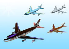 Free Airplane With Sky Royalty Free Stock Photography - 9256457