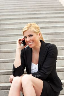 Free Businesswoman Talking On The Phone Royalty Free Stock Photos - 9256548