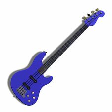 Free Image Of Electric Bass With Shadow And Clipping Royalty Free Stock Photo - 9257085