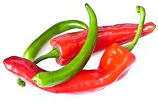 Free Red And Green Chili Pepper Stock Images - 9257484