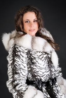 Free Portrait Of A Fashion Woman In Fur Coat Stock Photo - 9257850