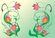 Free Red And Green Lily Decoration Royalty Free Stock Photography - 9258147