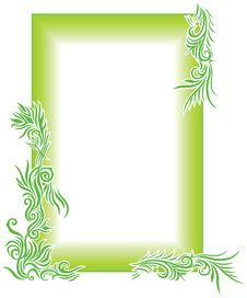 Free Green Floral Border Royalty Free Stock Photo - 9258225