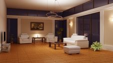Modern Interior Of A Room Royalty Free Stock Photography