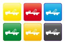 Crane Truck Web Button Stock Images