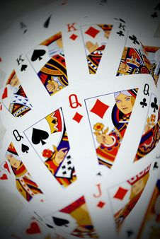 Free Playing Cards Royalty Free Stock Photos - 9259618