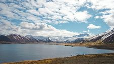 Free Bay With Snowy Mountains  Royalty Free Stock Photography - 92525237