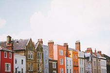 Free Terrace Of Colorful Houses Stock Photo - 92525270