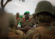 Free AMISOM Force Commander Tours Afgoye Corridor 03 Royalty Free Stock Photography - 92590117