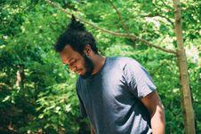 Free Man In Black Crew T Shirt Standing Near Green Leaf Tree During Daytime Stock Image - 92590271