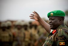 Free AMISOM Force Commander Tours Afgoye Corridor 04 Stock Photography - 92590282