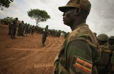 Free AMISOM Force Commander Tours Afgoye Corridor 01 Royalty Free Stock Photo - 92590295