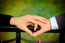 Free Couple Making A Heart Shape With Their Hands Royalty Free Stock Photos - 92590388