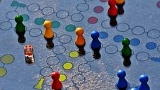 Free Blue And Yellow Board Game Stock Photography - 92590422