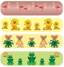 Free Set Universal Animals Backgrounds. Stock Image - 9260361