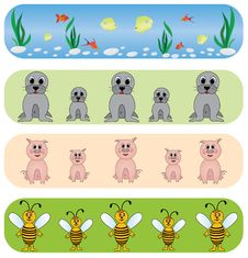 Free Set Universal Animals Backgrounds. Stock Photography - 9260362
