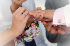Free Ring Ceremony Royalty Free Stock Photos - 9260558