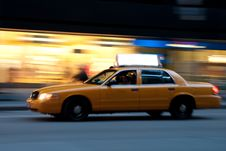 Free Taxi At Night, With Copyspace Stock Photography - 9261252