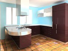 Free Modern Kitchen Stock Photos - 9261253