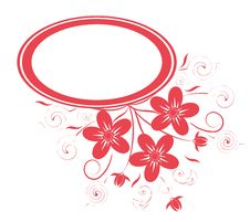 Free Floral Frame Stock Image - 9261321