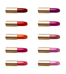 Free Lipstick Color Samples Stock Photography - 9261382