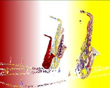 Free Saxophone Migration 2 Royalty Free Stock Images - 9261549