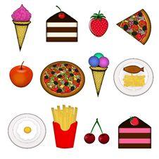Free Food Icons Stock Photos - 9262053