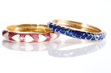 Free Colorful Bracelets On White Background Stock Photo - 9262200