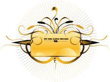 Ornate Shield Royalty Free Stock Photography