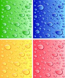 Color Wet Surfaces Royalty Free Stock Photos