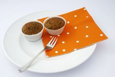Free Muffins On A Dish Royalty Free Stock Images - 9262809