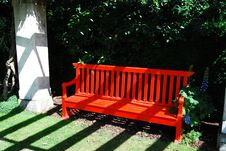 Free Red Bench Royalty Free Stock Image - 9262966