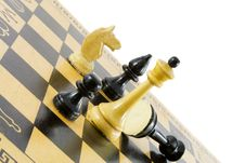 Chess � Game Over. Royalty Free Stock Photography
