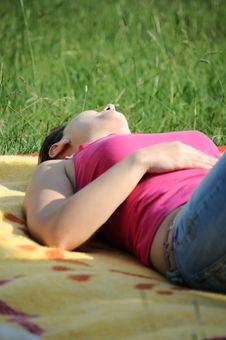 Free Laying In The Sun Royalty Free Stock Images - 9264099
