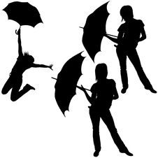 Free Girl And Umbrella Stock Photos - 9264763