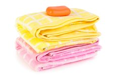 Free Towels And Soap Royalty Free Stock Photography - 9265347