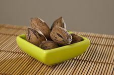 Free Pecan Nuts (Carya Illinoinensis). Royalty Free Stock Photos - 9265438