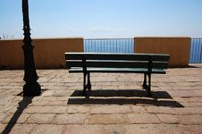 Bench And Lightpost Stock Images