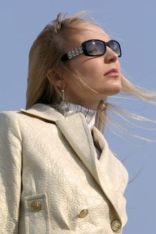 Sad Woman In Sunglasses Stock Photography