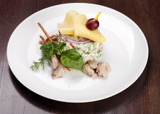 Free Salad With Liver Of Codfish Royalty Free Stock Image - 9268026