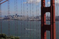 Golden Gate Bridge And San Francisco Royalty Free Stock Photos