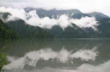 Lake Ritsa. Abhazia Royalty Free Stock Photos