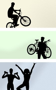 Free Lots Of People - Vector Set - Banner Royalty Free Stock Image - 9268616