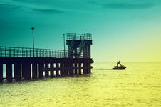 Free Pier On A Baltic Sea Royalty Free Stock Image - 9269756